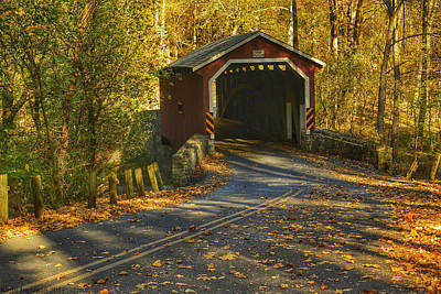 Photograph - Autumn Bridge I by Kathi Isserman