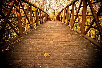 Autumn Photograph - Autumn Bridge by Irma Mason