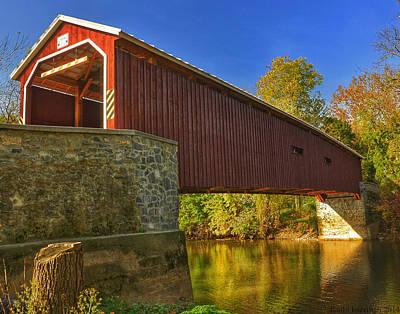 Photograph - Autumn Bridge  by Kathi Isserman