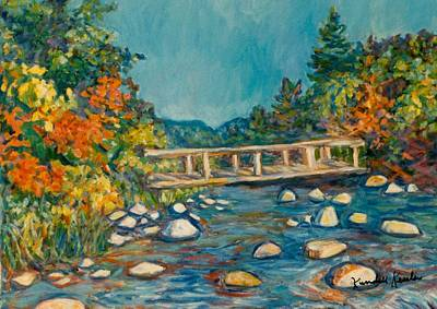 Painting - Autumn Bridge by Kendall Kessler