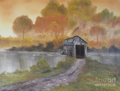 Covered Bridge Painting - Autumn Bridge by Melissa Turner