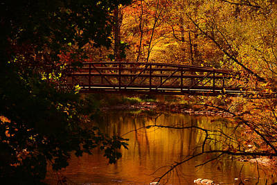 Photograph - Autumn Bridge by Raymond Salani III