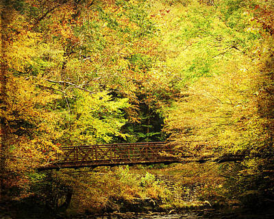 Photograph - Autumn Bridge by TnBackroadsPhotos