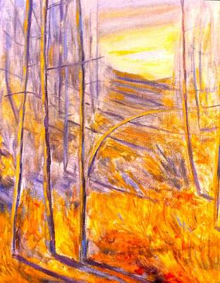 Painting - Autumn Bright Light by Kendall Kessler