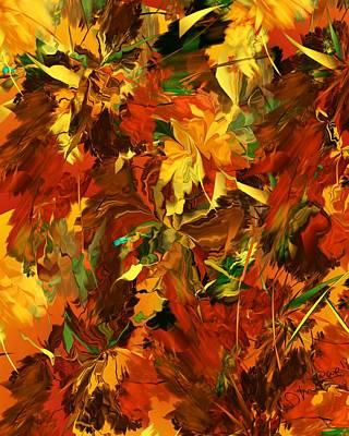 Digital Art - Autumn Burst by David Lane