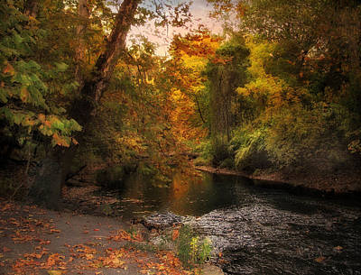 Autumn River Photograph - Autumn By The River by Jessica Jenney