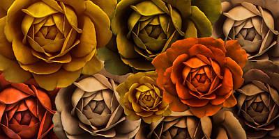 Photograph - Golden Autumn Rose Flower Abstract by Jennie Marie Schell