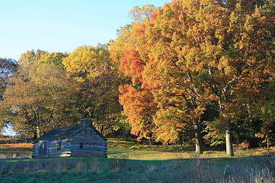 Valley Forge Photograph - Autumn Cabin by Michael Porchik