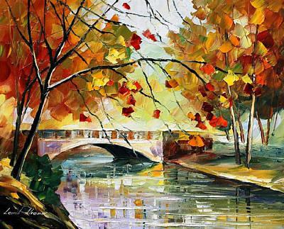 Autumn Calm - Palette Knife Oil Painting On Canvas By Leonid Afremov Original by Leonid Afremov