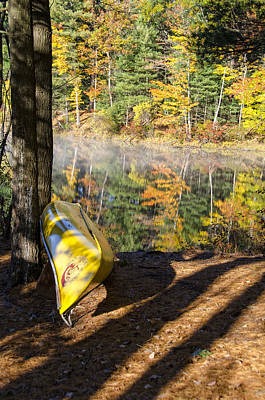 Ponds Photograph - Autumn Canoe by Donna Doherty