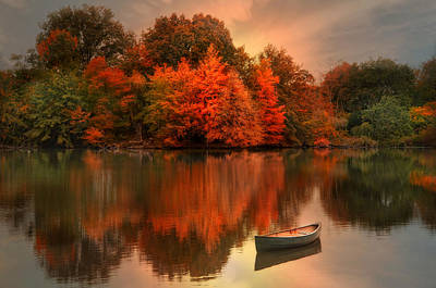 Photograph - Autumn Canoe by Robin-Lee Vieira