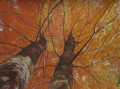 Painting - Autumn Canopy by Harvey Rogosin