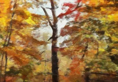 Maple Season Painting - Autumn Canvas by Dan Sproul