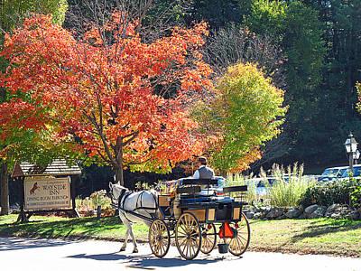 Autumn Carriage Ride Art Print by Barbara McDevitt