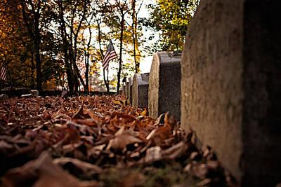 Photograph - Autumn Cemetery by Michael Porchik