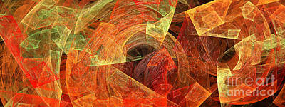 Photograph - Autumn Chaos 2 by Andee Design