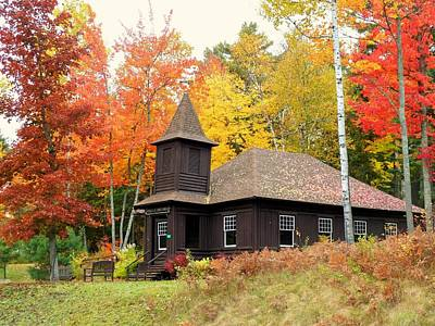 Photograph - Autumn Chapel by Elaine Franklin