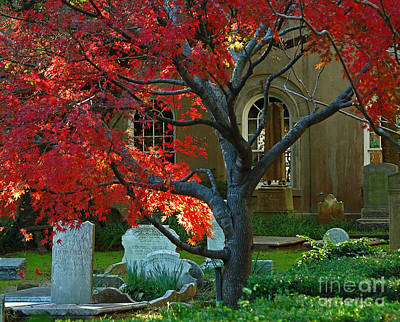 Photograph - Autumn Charleston Churchyard by Deborah Smith