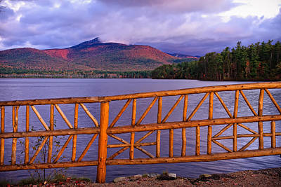 Cedar Fence Photograph - Autumn Chocorua by Jeff Sinon