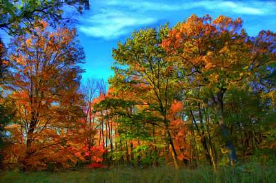 Digital Art - Autumn Clearing by Dennis Lundell