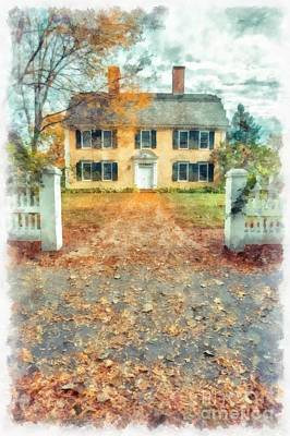 Autumn Colonial Splendor Art Print by Edward Fielding