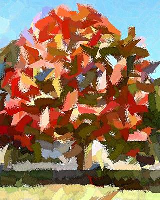 Autumn Color Riot Abstract Art Print