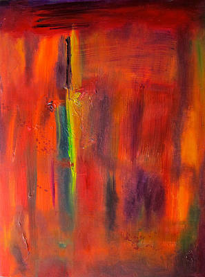 Painting - Autumn Colors Abstract by Kathryn Barry