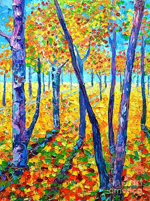 Vivid Colour Painting - Autumn Colors by Ana Maria Edulescu