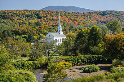 Photograph - Autumn Colors And Stowe Community Church by Jatinkumar Thakkar