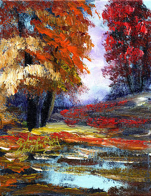 Nashville Tennessee Painting - Autumn Colors  by Anna Sandhu Ray
