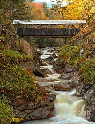 Photograph - Autumn Colors At Franconia Notch by Adam Jewell