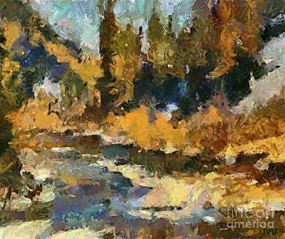Impressionism Art Painting - Autumn Colors by Dragica  Micki Fortuna