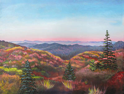 Blue Ridge Parkway Painting - Autumn Colors by Eve  Wheeler