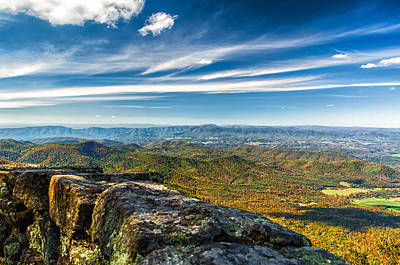 Autumn Colors In The Blue Ridge Mountains Art Print