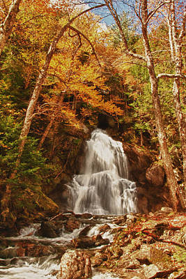 Photograph - Autumn Colors Over Moss Glen Falls by Jeff Folger