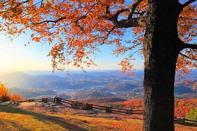Photograph - Autumn Comes To Black Rock Mountain - North Georgia by Mark E Tisdale