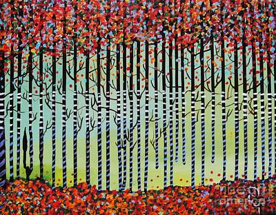 Painting - Autumn Confetti by Deborah Glasgow