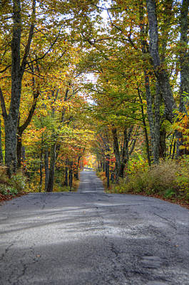 Backroad Photograph - Autumn Country Road by Donna Doherty
