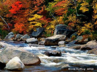 Art Print featuring the painting Autumn Creek by Bruce Nutting