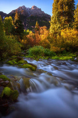 Photograph - Autumn Creek by Darren  White