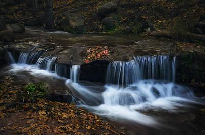 Pink Confetti Photograph - Autumn Creekside  by Saija  Lehtonen