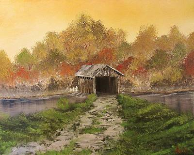 Covered Bridge Painting - Autumn Crossing by Gavin Kutil