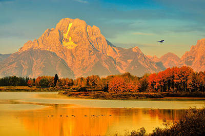 Autumn Dawn At Oxbow Bend Art Print