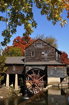 Autumn Day At The Old Mill Art Print by John Saunders