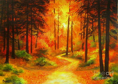 Painting - Autumn  Delight  by Shasta Eone