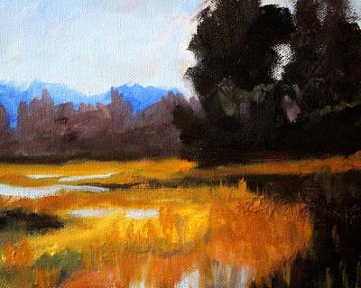 Swamp Oil Painting - Autumn Delta by Nancy Merkle