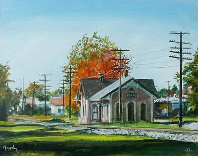 Painting - Autumn Depot by William Brody