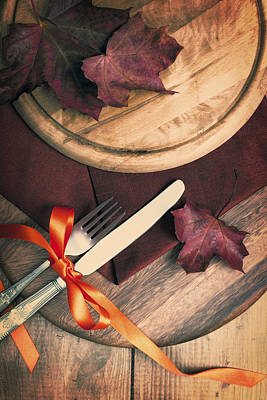 Pine Cones Photograph - Autumn Dining by Amanda Elwell