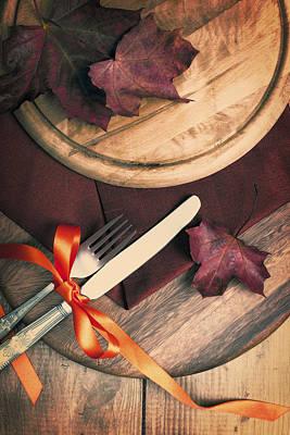 Autumn Dining Art Print by Amanda Elwell