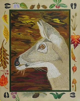 Drawing - Autumn Doe   by Gerald Strine